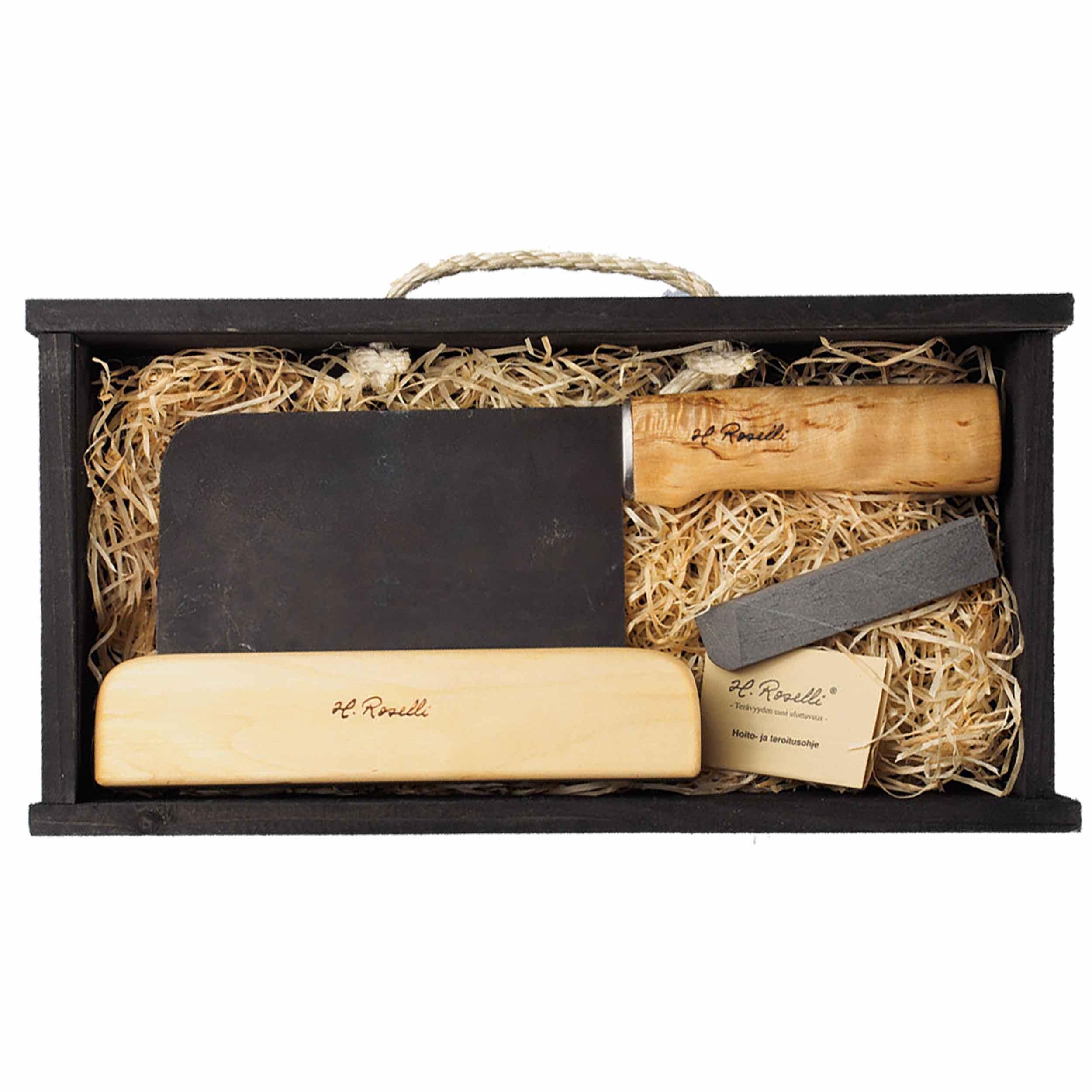 Roselli R730P Chinesisches Kochmesser 16 cm als Geschenkset