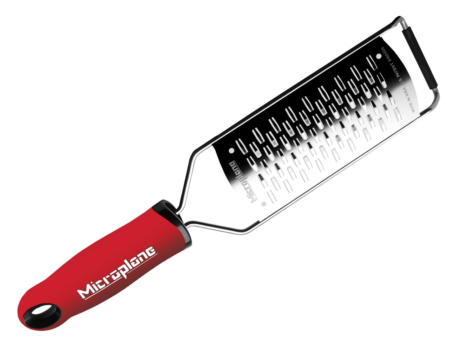 Microplane Gourmet 45102 Medium-Ribbon Mittelgroße Schneide rot