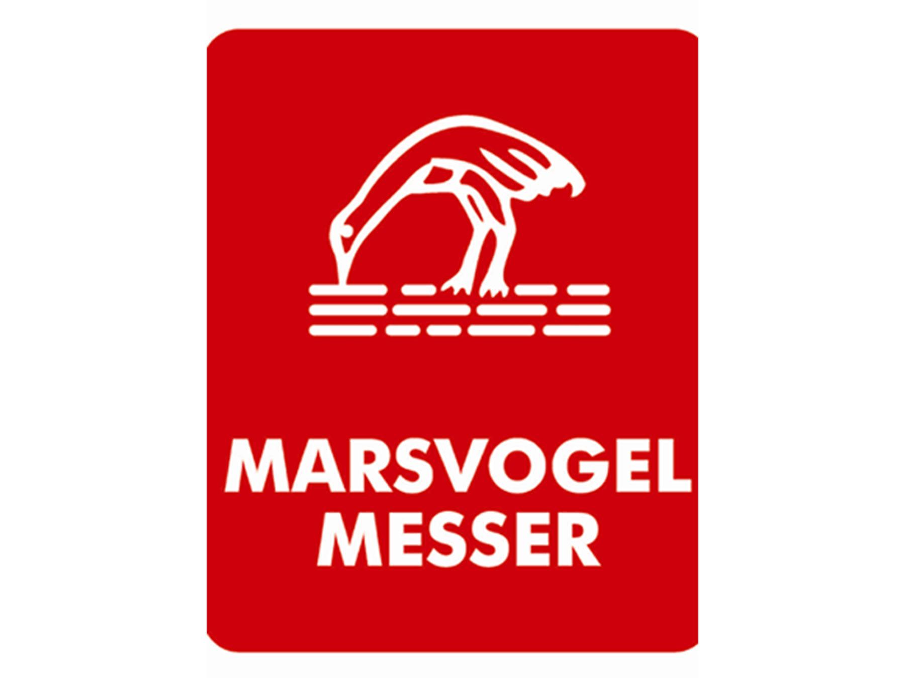 Marsvogel Tischmesser Griff Perlmutt Imitat mit Welle 21 cm