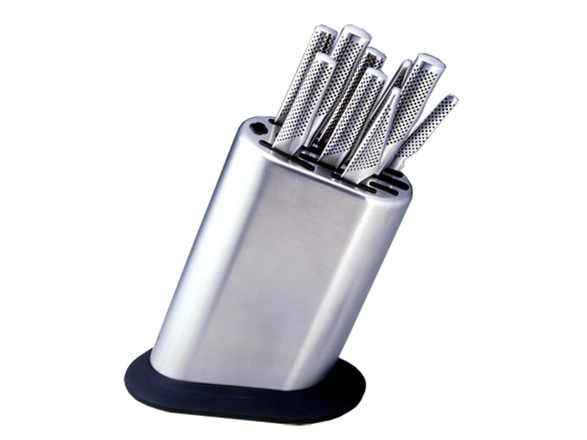 Global MB-10 Messerblock für 10 Messer und Schleifstab