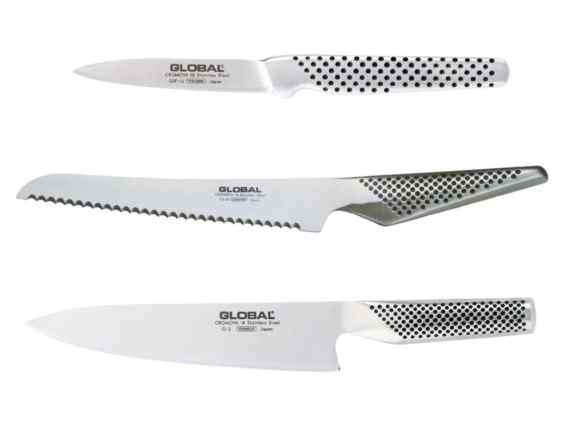 Global G-26115R Messerset dreiteilig