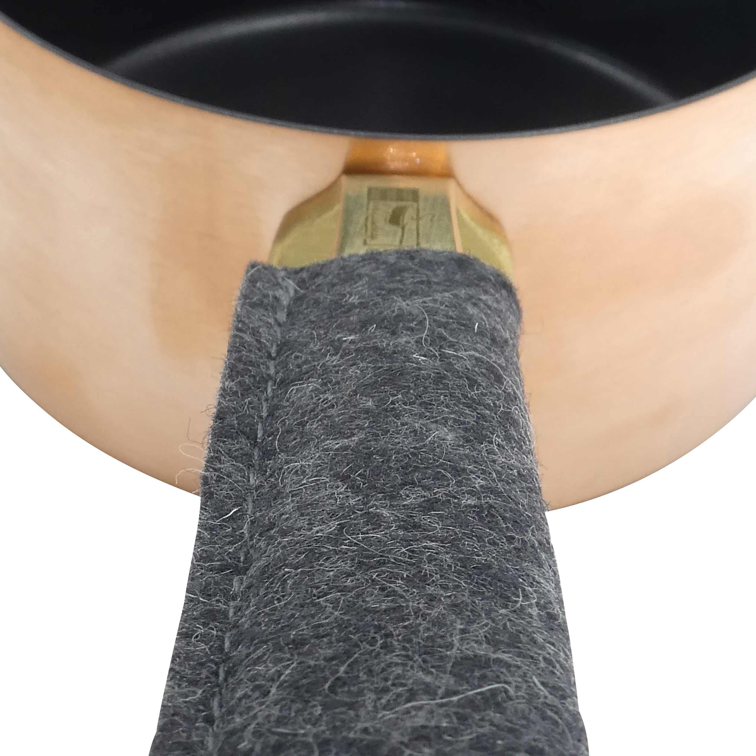 Kupfermanufaktur Pfannenstielhalter aus Filz 7003-01