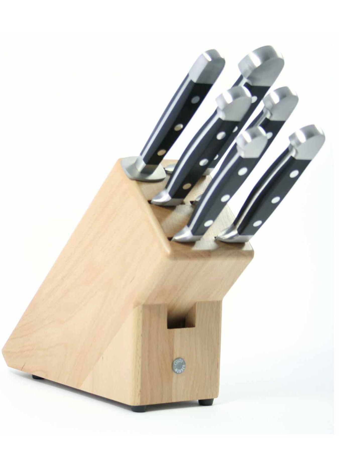 Güde Messerblock 6-1000LN für 6 Messer Natur - LEER