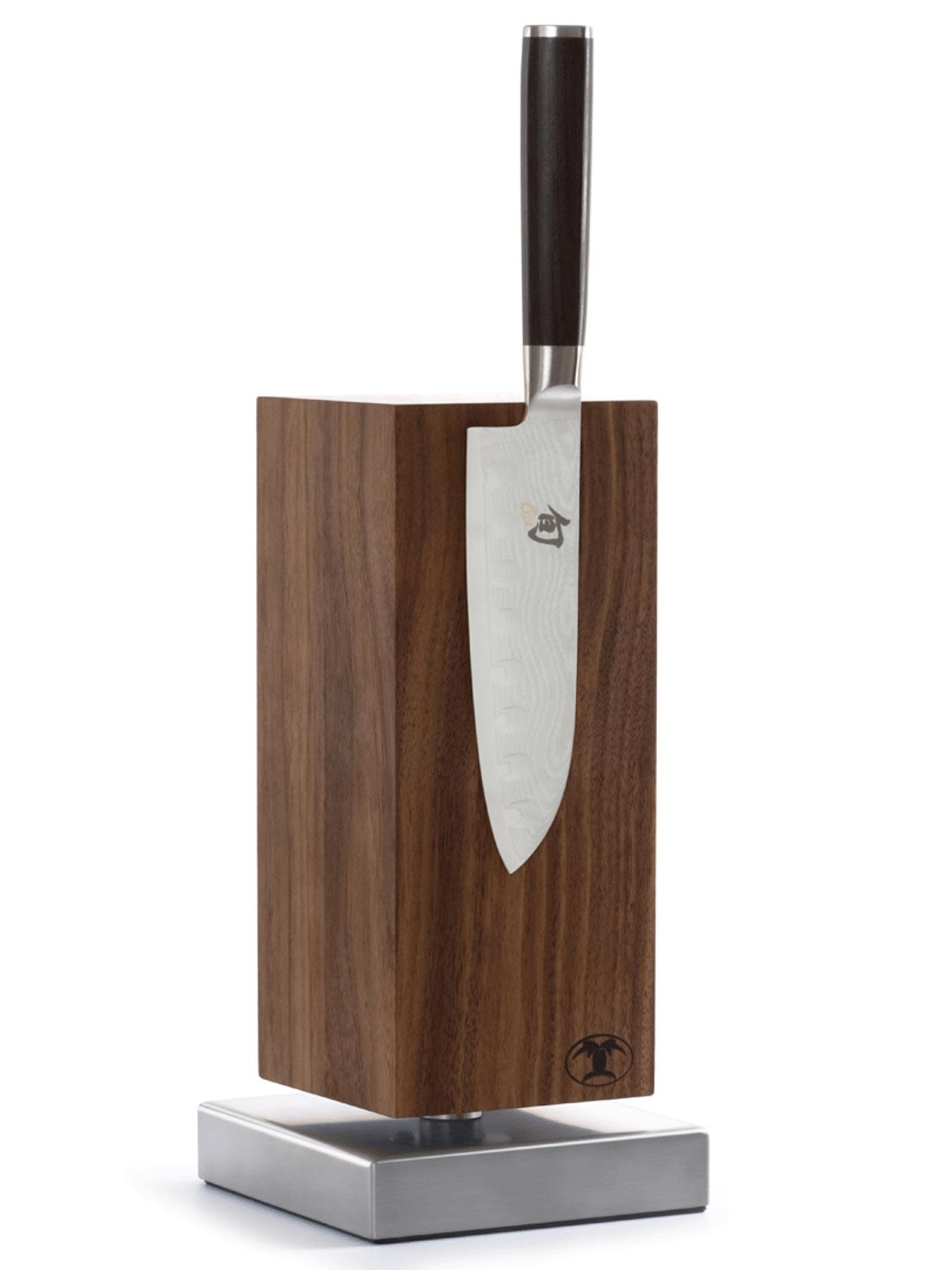 Blockwerk Messerblock Nussbaum für 4 Messer