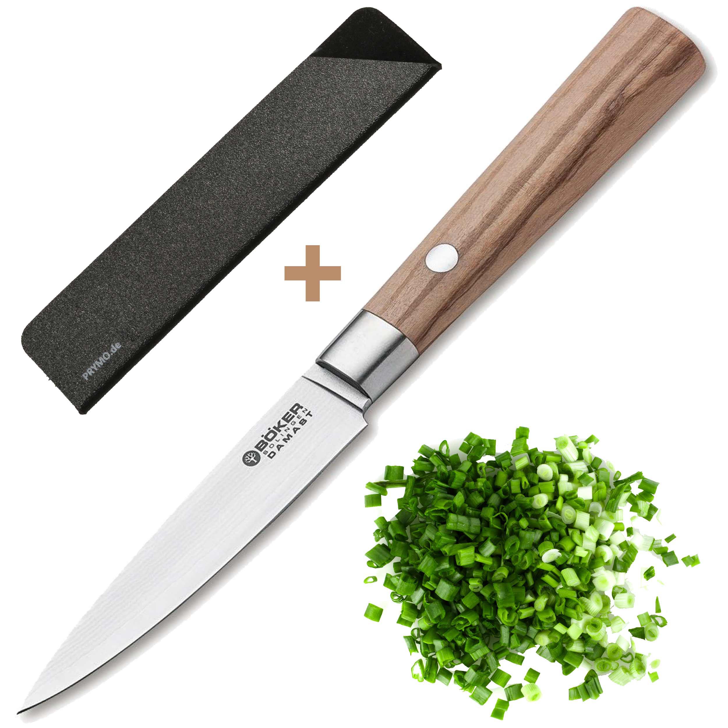 Böker Damast Olive Spickmesser 10cm