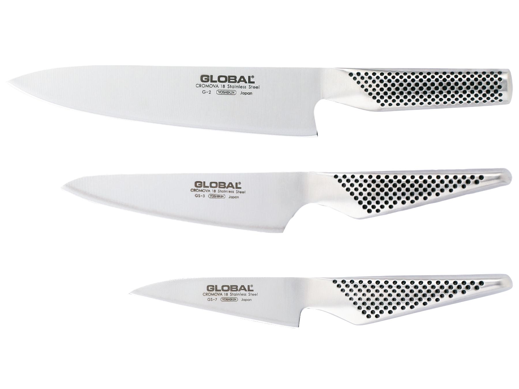 Global G-237 Messerset 3 teilig, G-2, GS-3 und GS-7