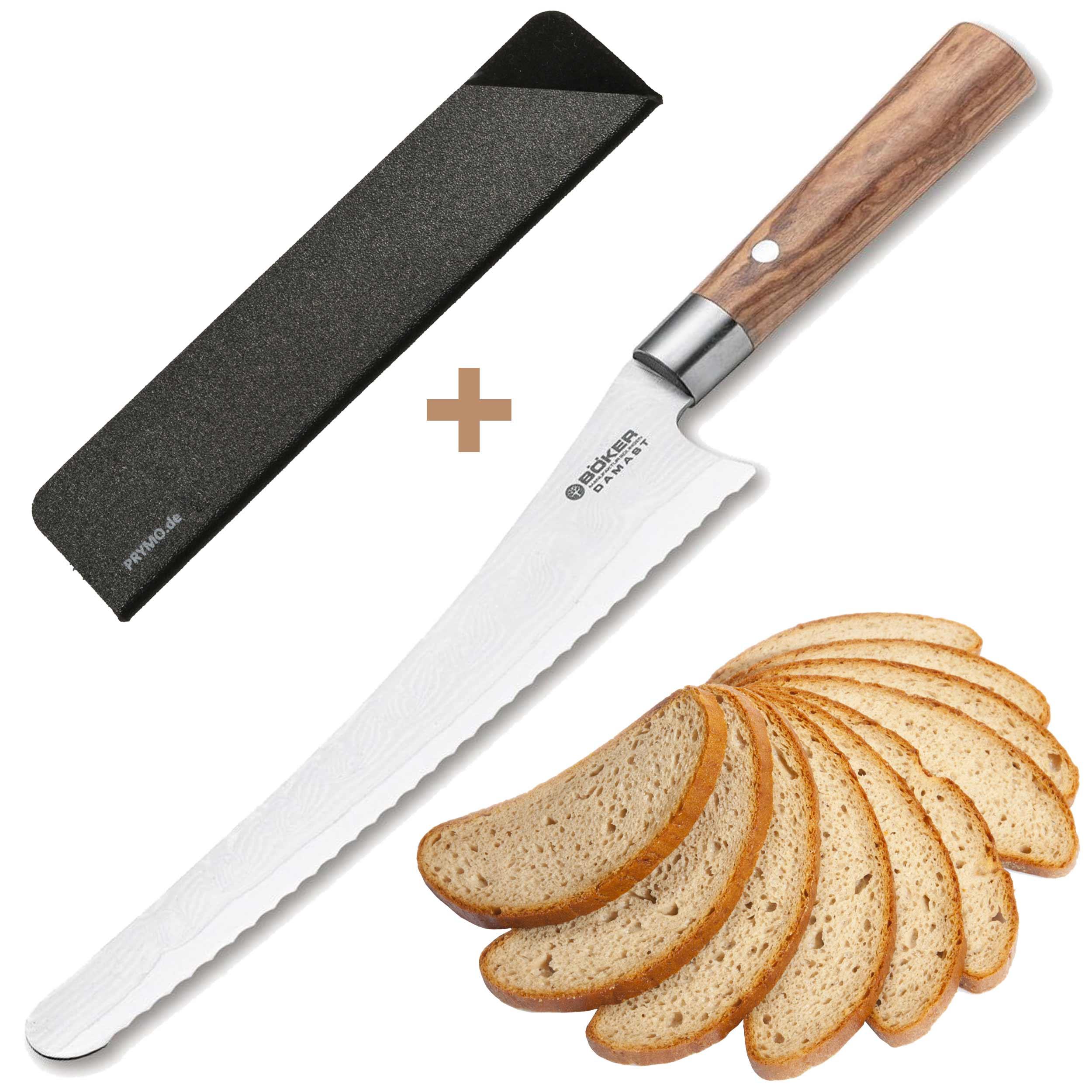 Böker Damast Olive Brotmesser 23cm