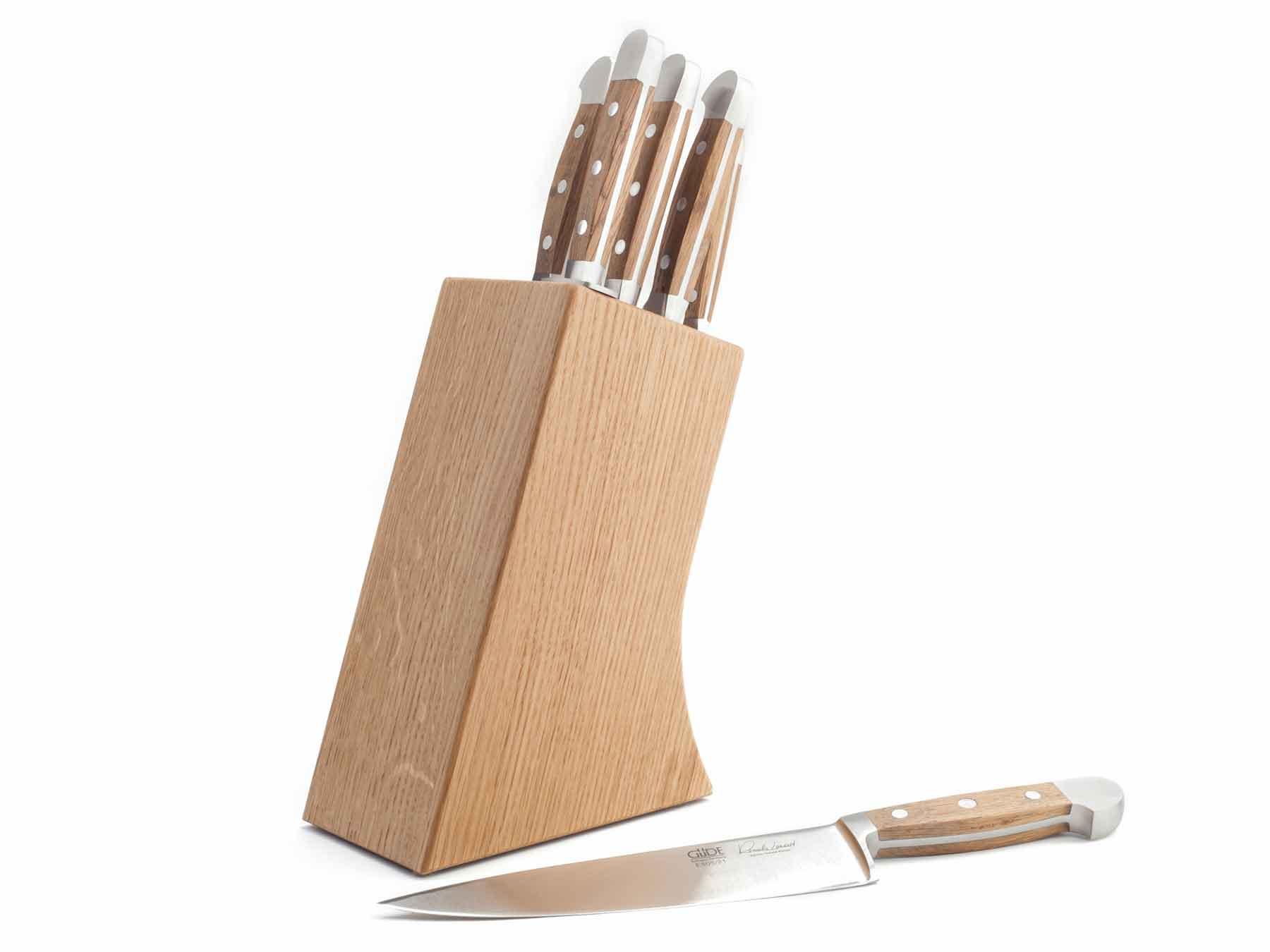 Güde Messerblock Eiche für 8 Messer - LEER