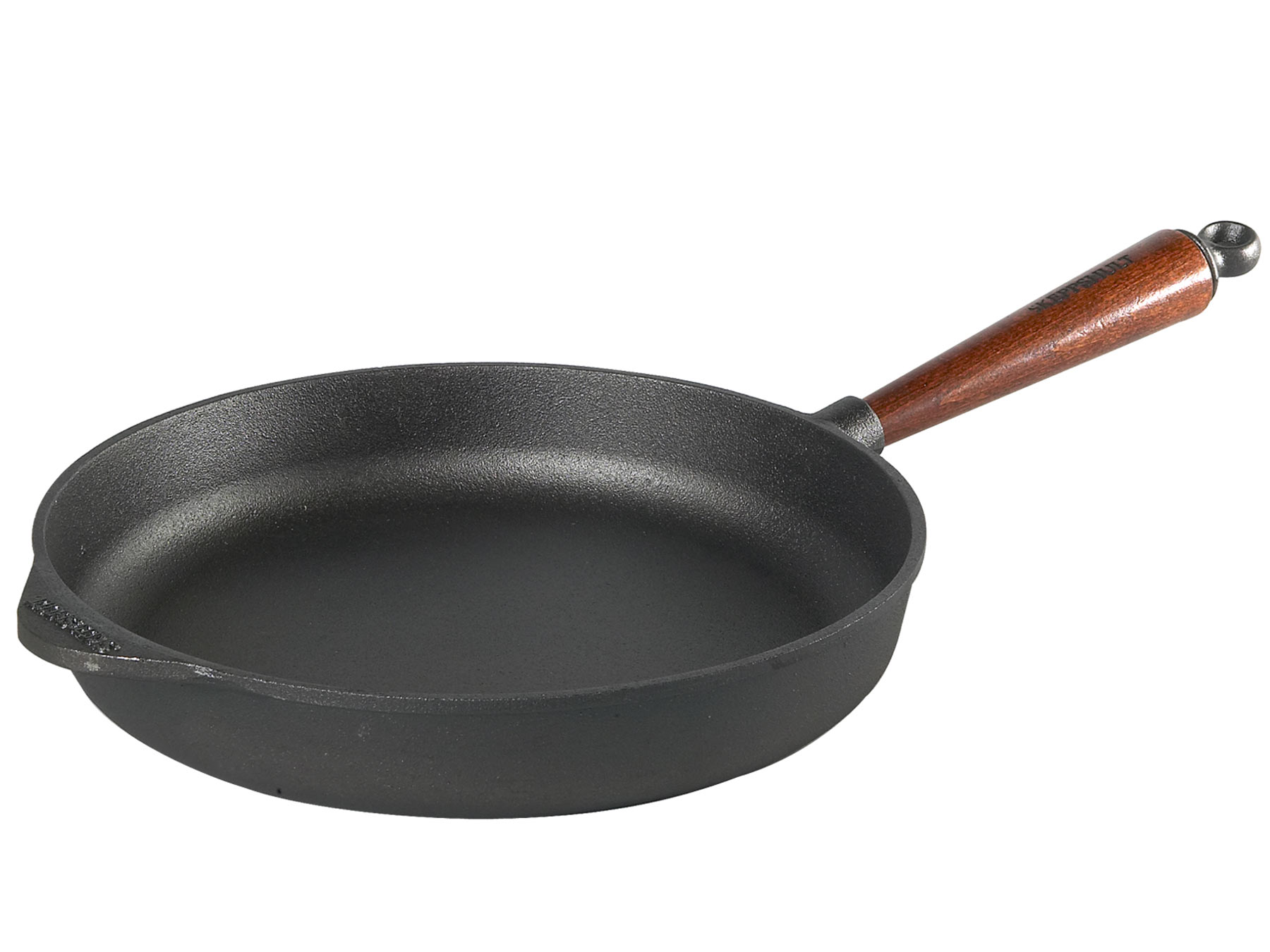 Skeppshult Servierpfanne Holzgriff 28 cm, Höhe 5,5 cm