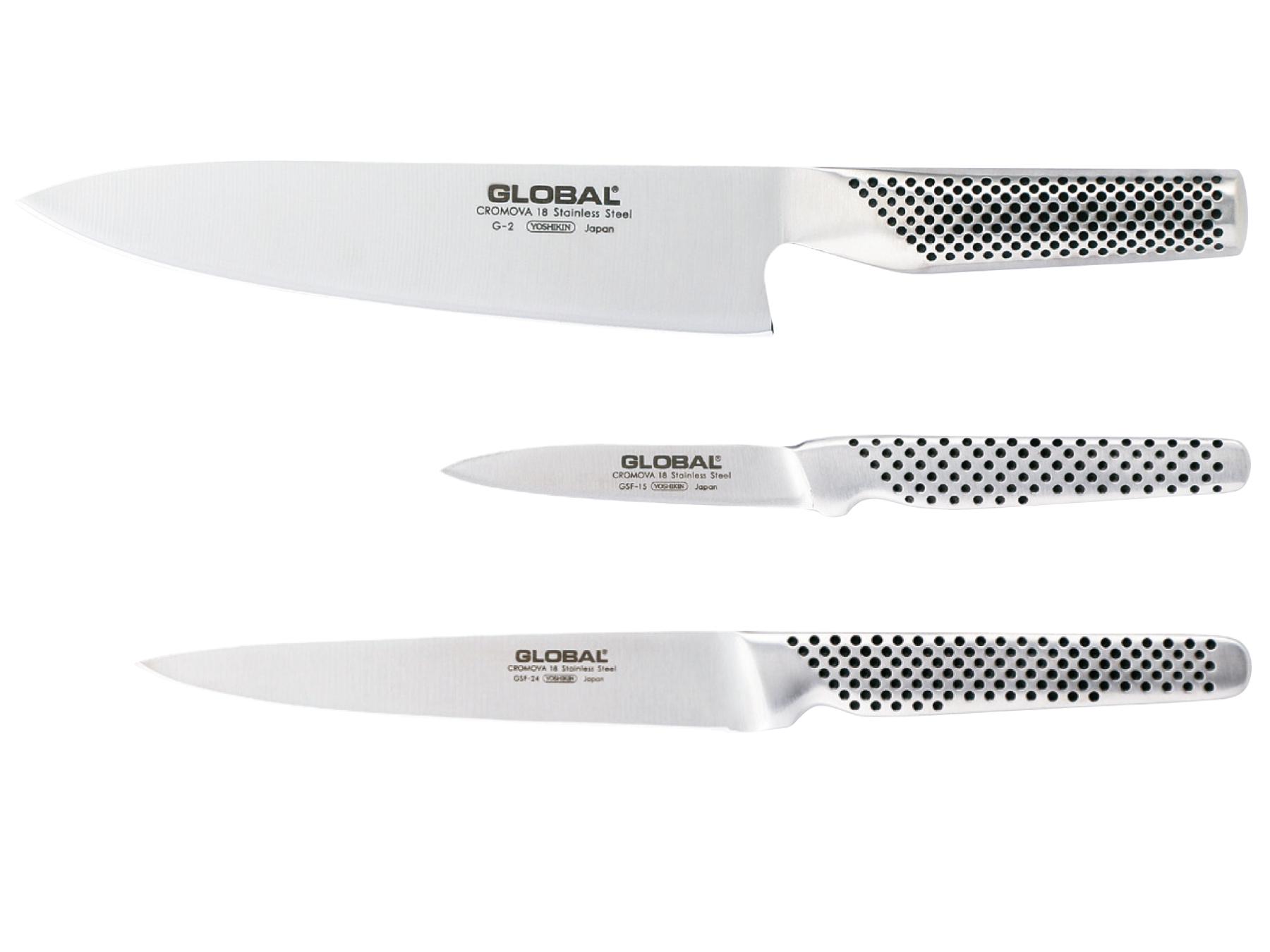 Global G-21524 Messerset 3 teilig, G-2, GF-15 und GSF-24