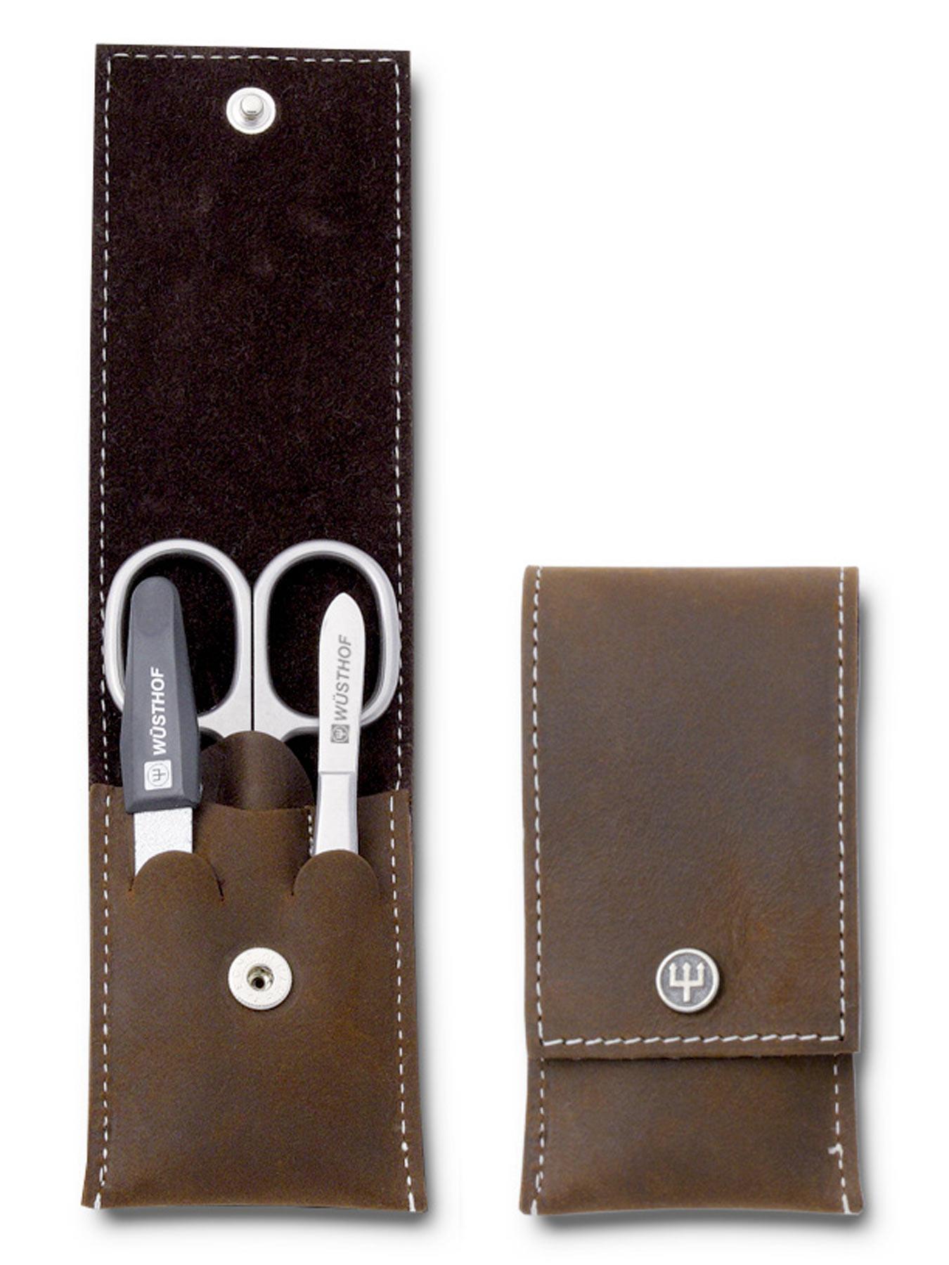 Wüsthof 9123 Nagelpflegeetui 3 teilig brown