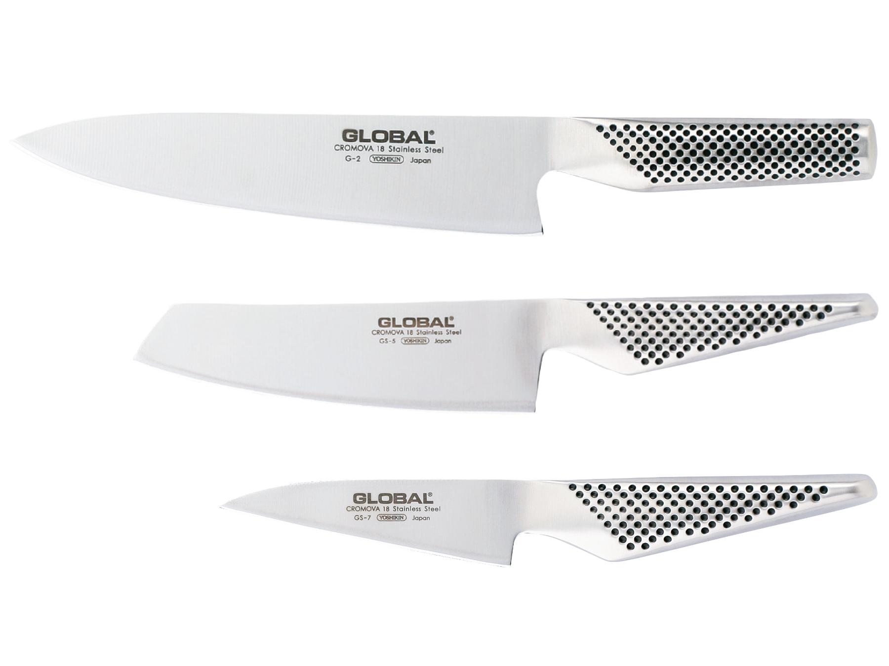 Global G-257 Messerset 3 teilig, G-2, GS-5 und GS-7