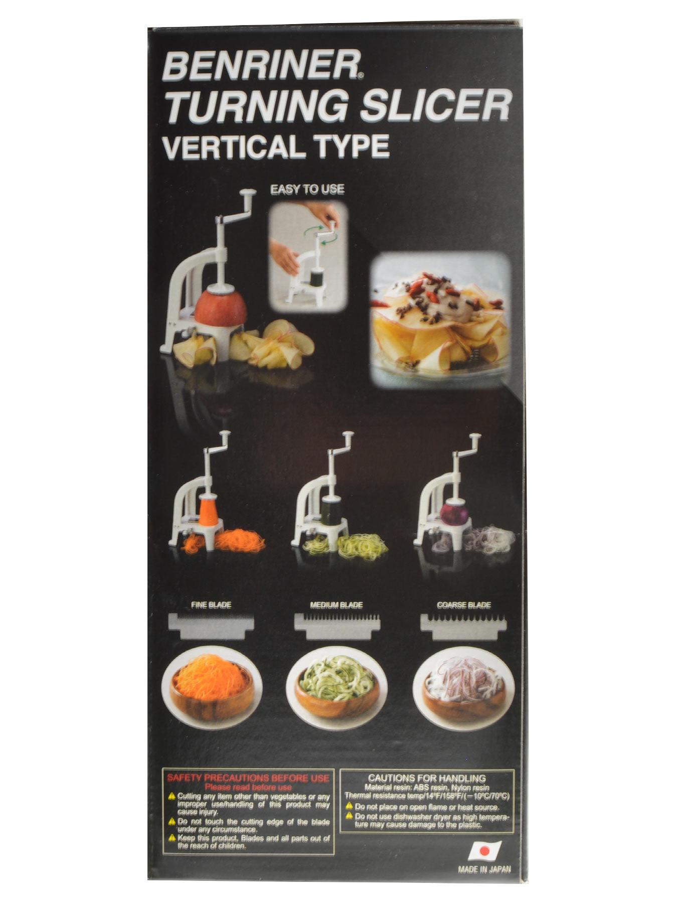 Benriner Gemüse Spiralschneider BN-8W Vertikal weiß