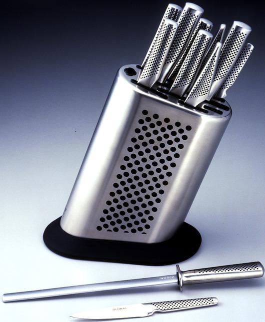 Global MB-11 Messerblock für 10 Messer und Schleifstab